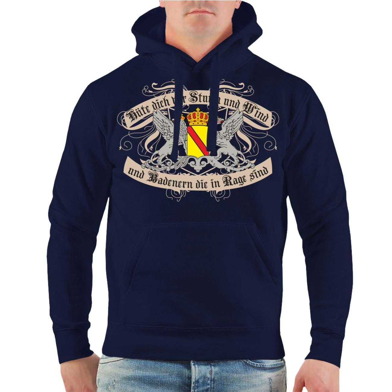 Männer und Herren Kapuzenpullover Hüte Dich Badener Größe S - 8XL