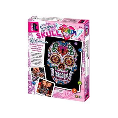 Sequin Art Sugar Skull Sparkling Arts and Crafts Picture Kit; Creative Crafts for Adults and Kids: Toys & Games