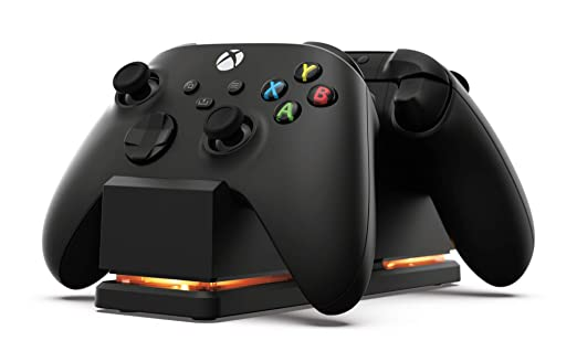 Amazon Com Powera Dual Charging Station For Xbox Black Wireless Controller Charging Charge Rechargeable Battery Xbox Series X S Xbox One Xbox Series X Video Games