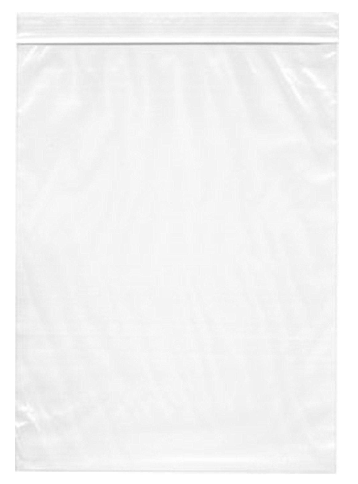 Large Ziplock 13 x 15, 2 Mil Resealable Zipper Jumbo size Plastic 2-Gallon Storage poly Bags (100)