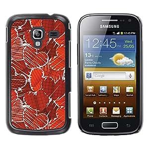 Be Good Phone Accessory // Dura Cáscara cubierta Protectora Caso Carcasa Funda de Protección para Samsung Galaxy Ace 2 I8160 Ace II X S7560M // Paper Heart Pattern