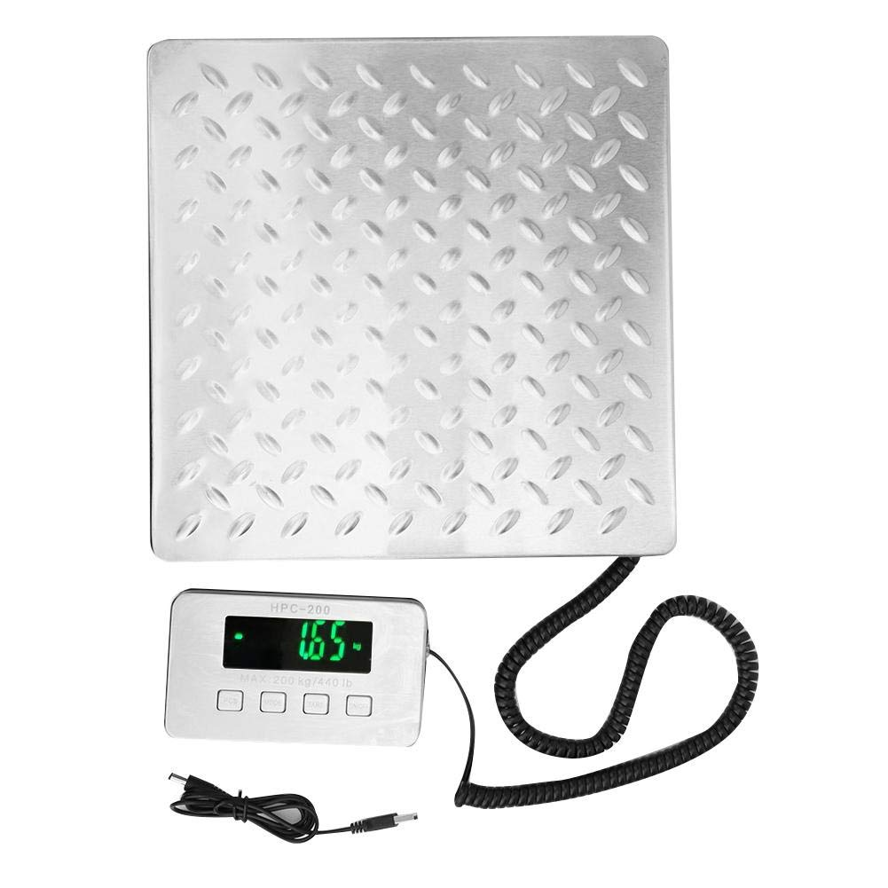Dual Range Electronic Scale,200kg/0.05g Stainless Steel Luggage WeighingElectronic Scale Double Range Expresst Luggage Baggage Weighing Electronic Scale