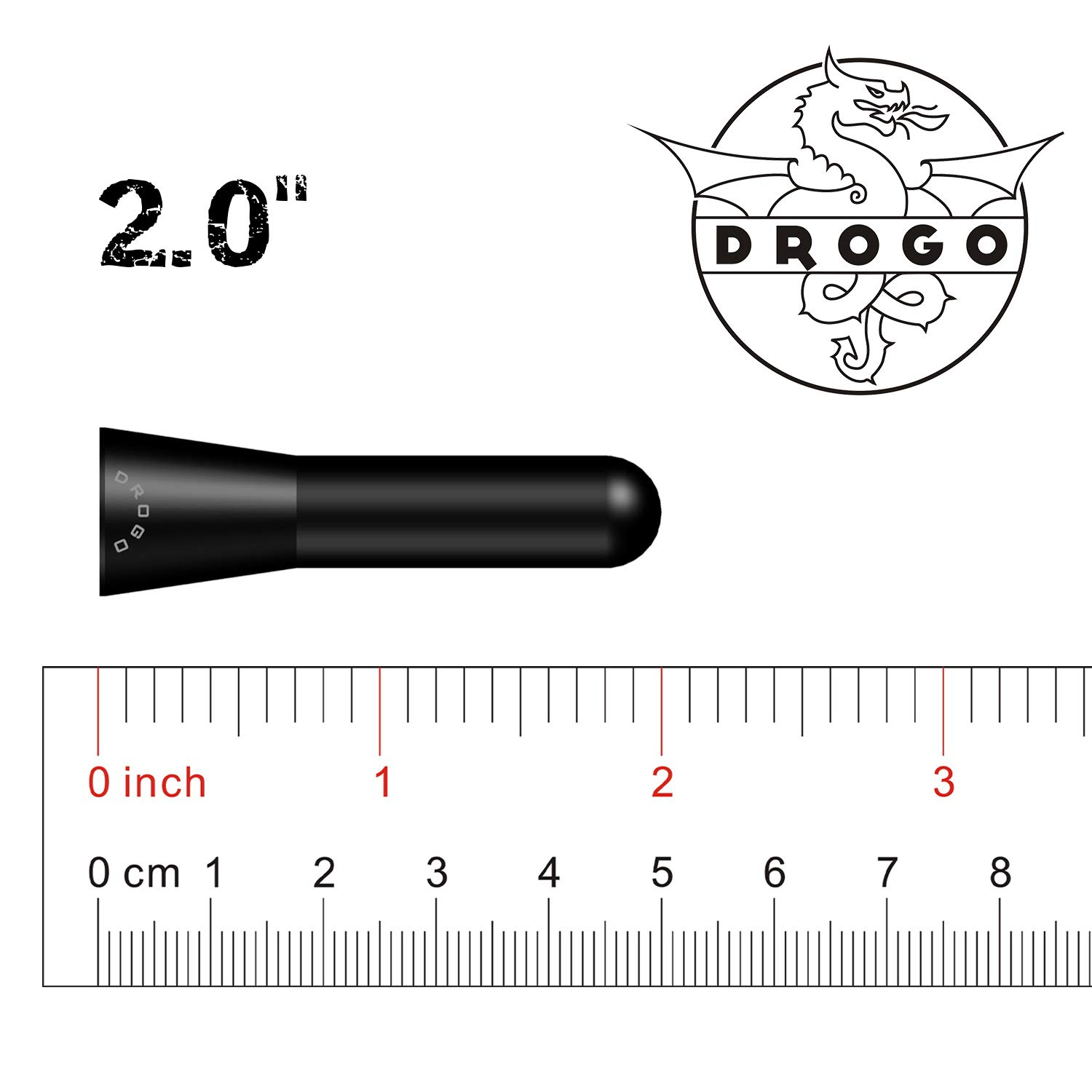 DROGO 2 StandX Replacement Antenna for BMW 3 Series Convertible 1991-2006 Tough Material Creative Design FM//AM Reception Enhanced Stealth Black
