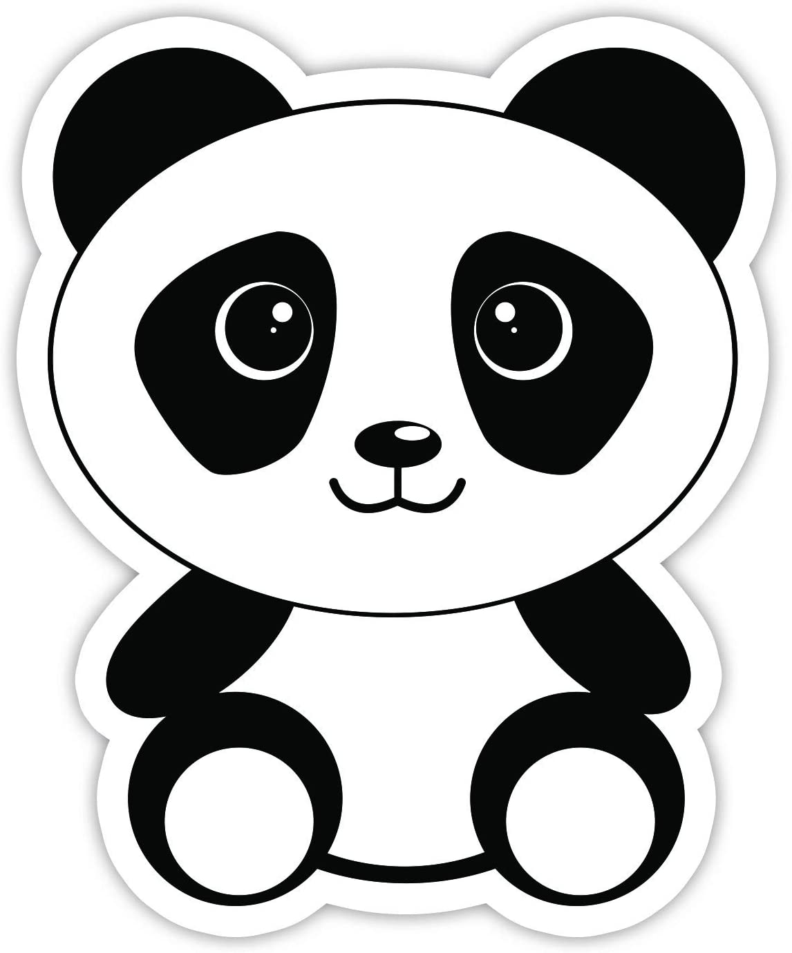 "Panda Bear Sticker - Laptop Stickers - 3"" Vinyl Decal - Laptop, Phone, Tablet Vinyl Decal Sticker"
