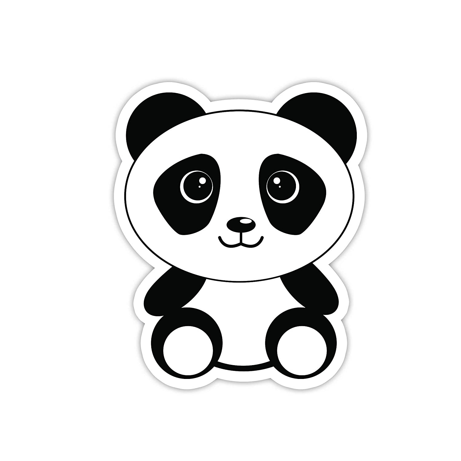 Amazon com panda bear sticker laptop stickers 3 vinyl decal laptop phone tablet vinyl decal sticker computers accessories