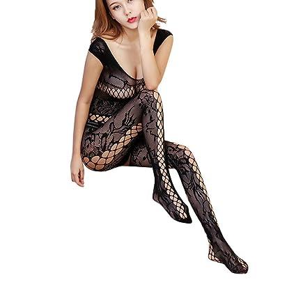 069fa9f9b Amazon.com  Makaor Womens Sexy Lingerie Open Mesh BodyStockings ...