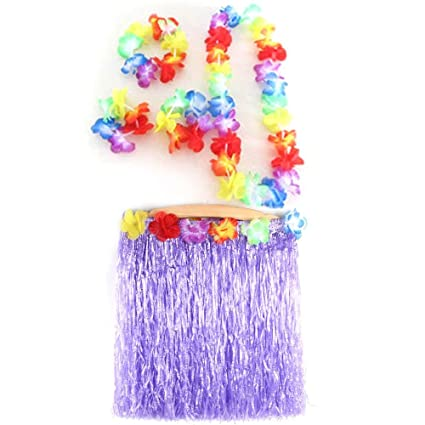 94e2cee36d Hawaiian Costum - 5pcs Hawaiian Luau Garland Headband Wristband Hula ...