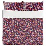 Pasileys Have A Party Duvet Bed Set 3 Piece Set Duvet Cover - 2 Pillow Shams - Luxury Microfiber, Soft, Breathable