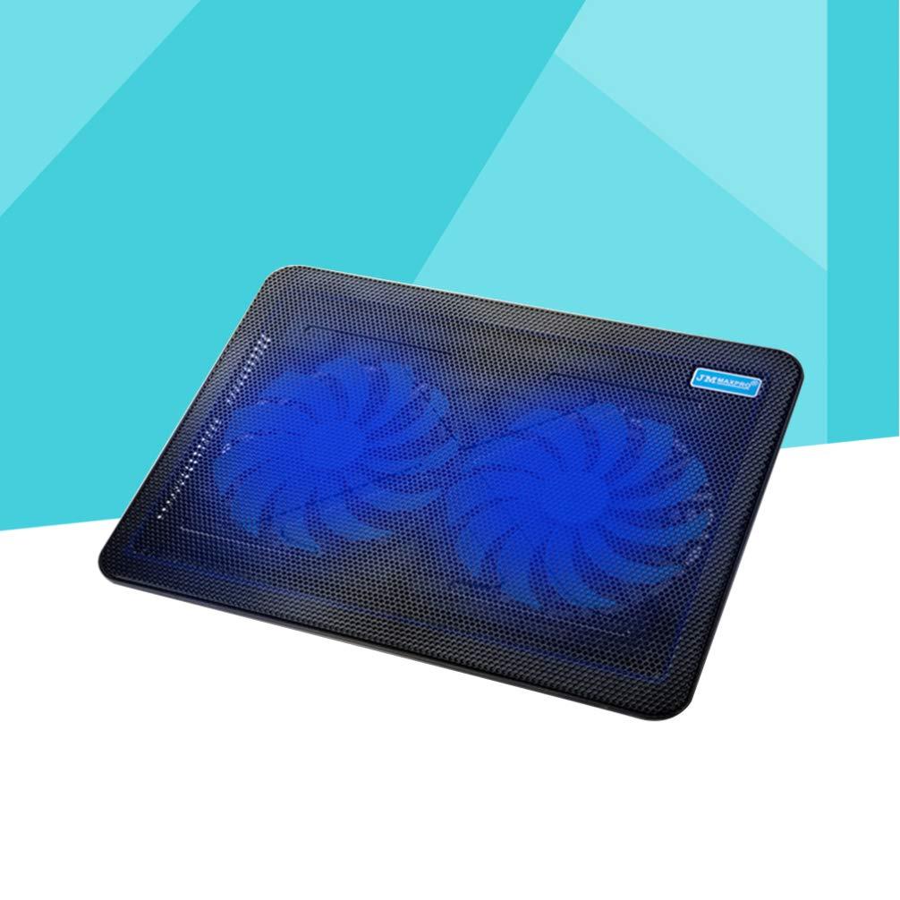 17 Inches Black OSALADI Laptop Cooling Pad Laptop Cooler Mat Computer No Voice Cooler