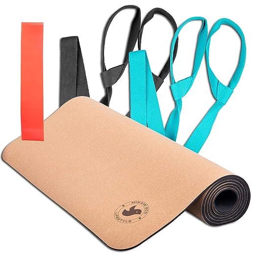 Minami Eco - Esterilla de yoga de corcho, ligera, suave ...