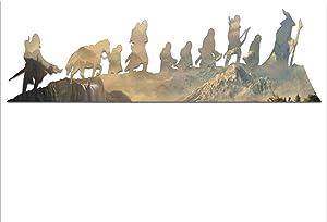 "Bargain Max Decals LOTR Silhouettes Characters Caravan Fellowship Window Laptop Car Sticker 8"""