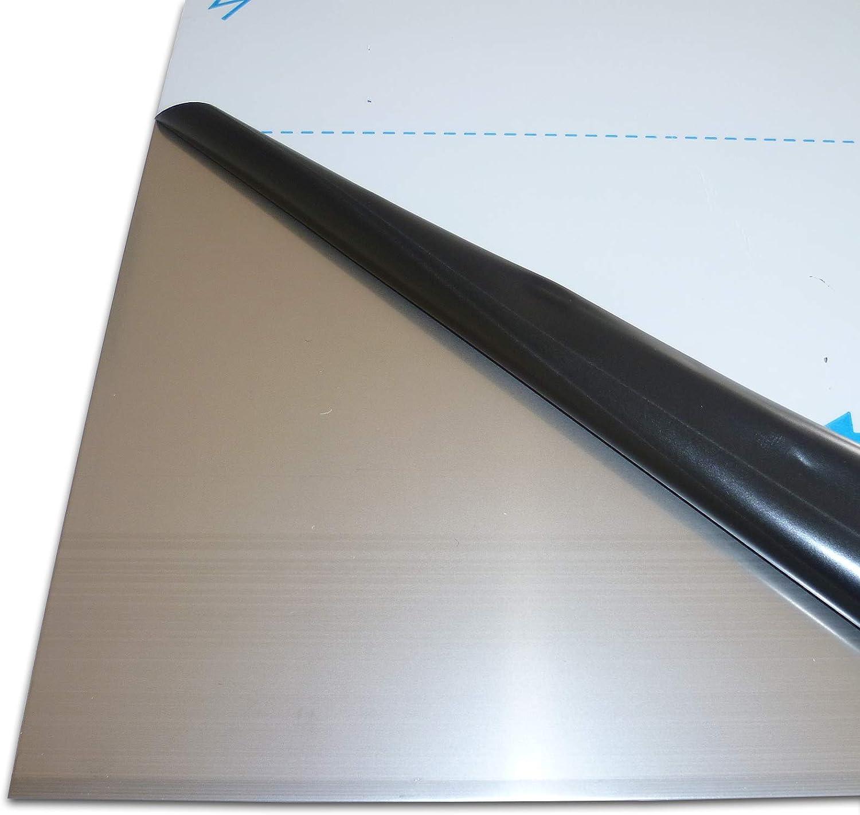 Edelstahlblech 0,8mm stark K240 geschliffen Edelstahlplatte V2A Blech Zuschnitte
