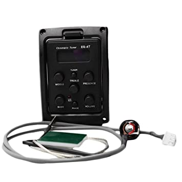 ... Pickup EQ Preamp con afinador para Guitarra acústica con sintonizador LCD y Control de Volumen Preamplificador de Guitarra eléctrica: Amazon.es: Jardín