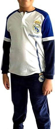 Real Madrid Pijama niño Invierno Terciopelo: Amazon.es: Ropa