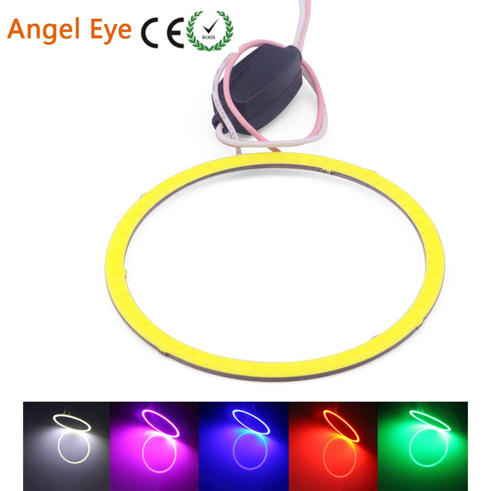 Angel Eyes LED COB auto Halo anello luci diurne 70/80/90/100/110/120 MM bianco blu 12 V 24 V DC 2 pezzi Ledingway Lighting Co. Ltd