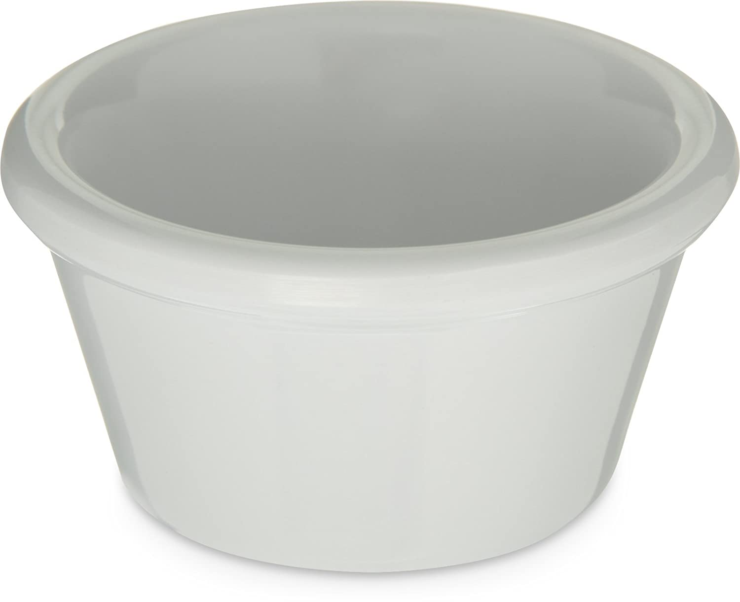 Carlisle 085202 Melamine Smooth Ramekin, 2 oz. Capacity, White (Case of 72) CARLISLE FOODSERVICE PRODUCTS