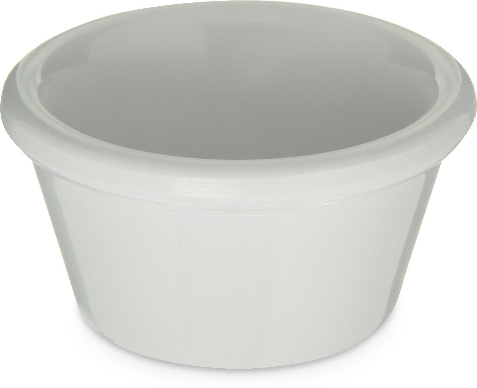 Carlisle 085202 Melamine Smooth Ramekin, 2 oz. Capacity, White (Case of 72)