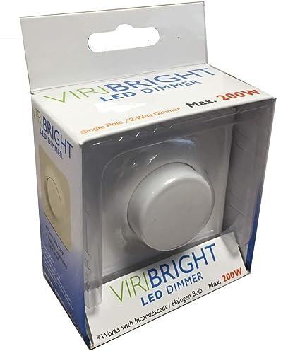 Variador regulador LED y halógeno - máx. 200W,