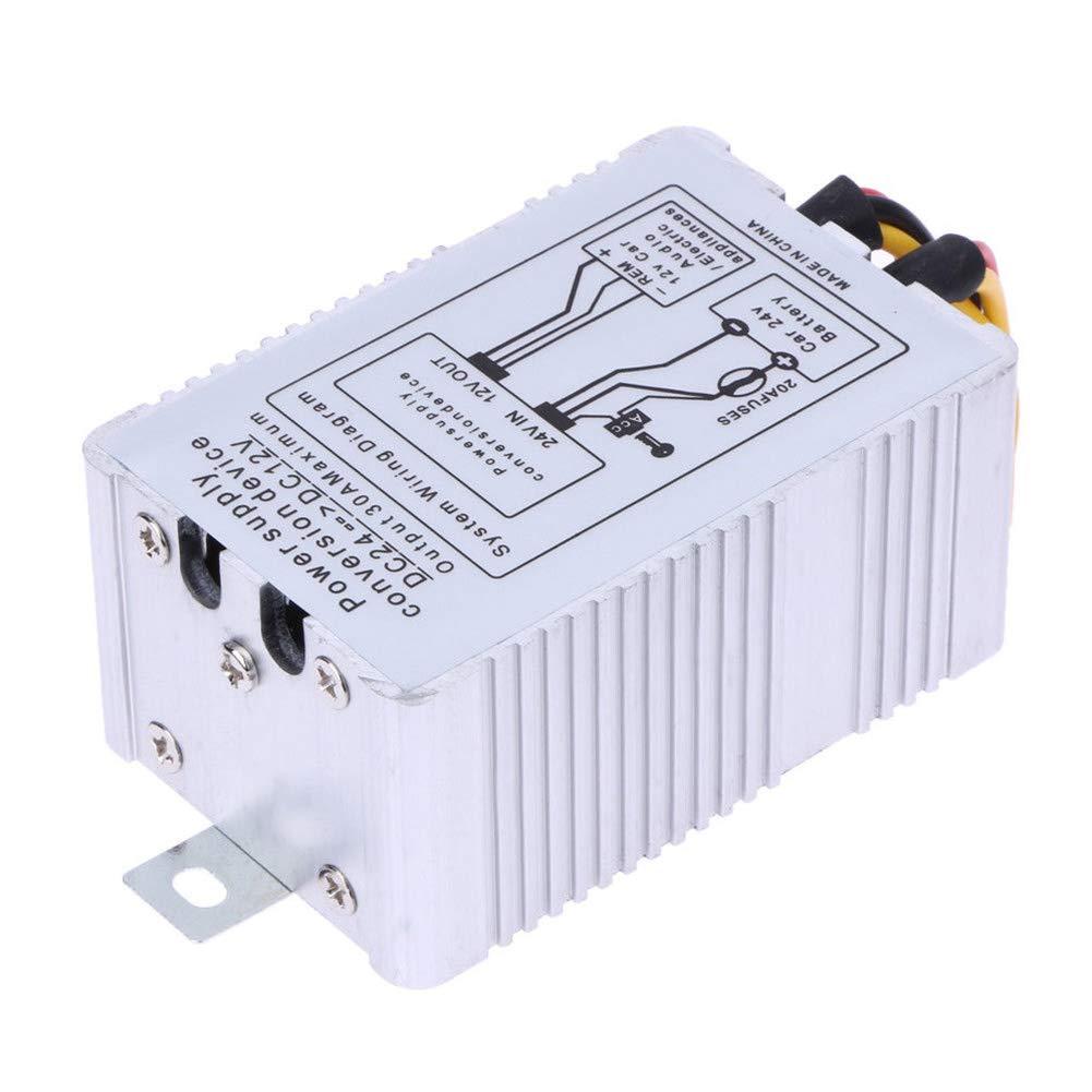 Ersatzwandler Lionina Kfz-Wechselrichter praktisch tragbares Netzteil Gleichstrom-Umwandlung 24 V auf 12 V