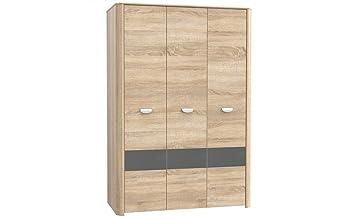 Kleiderschrank designpreis  Kleiderschrank, 3 trg. Schrank YOOP Sonoma Eiche + Anthrazit ...