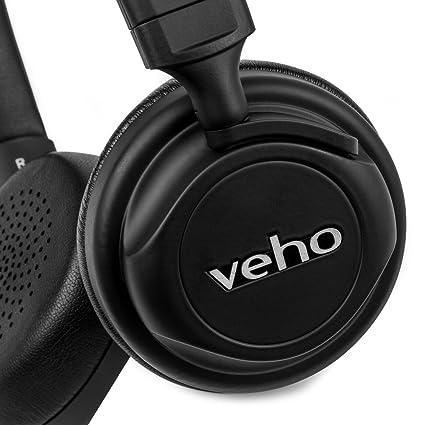 Veho ZB-5 - Auriculares inalámbricos con Bluetooth, Color Negro: Amazon.es: Electrónica