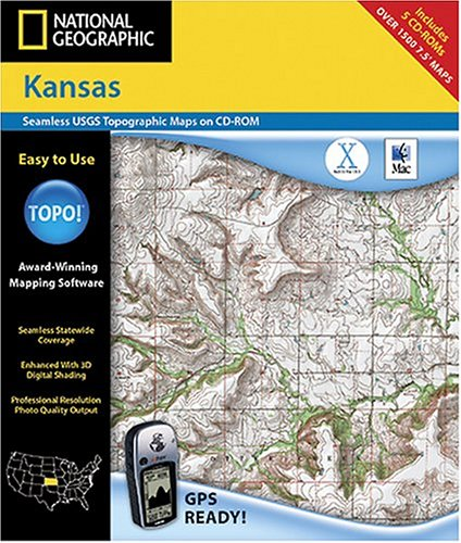 National Geographic TOPO Map of Kansas (Mac)