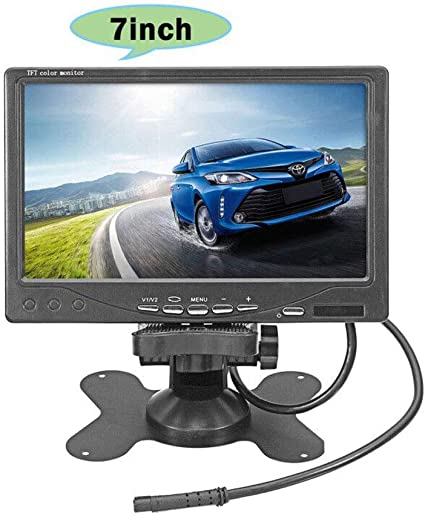 "7/"" Screen Full Color Wired Backup Camera TFT LCD Color Monitor Kit For Truck SL"