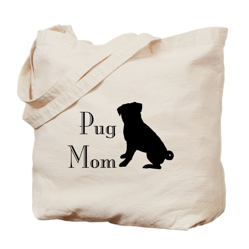 CafePress – パグMom – ナチュラルキャンバストートバッグ、布ショッピングバッグ B01HE2RBBM