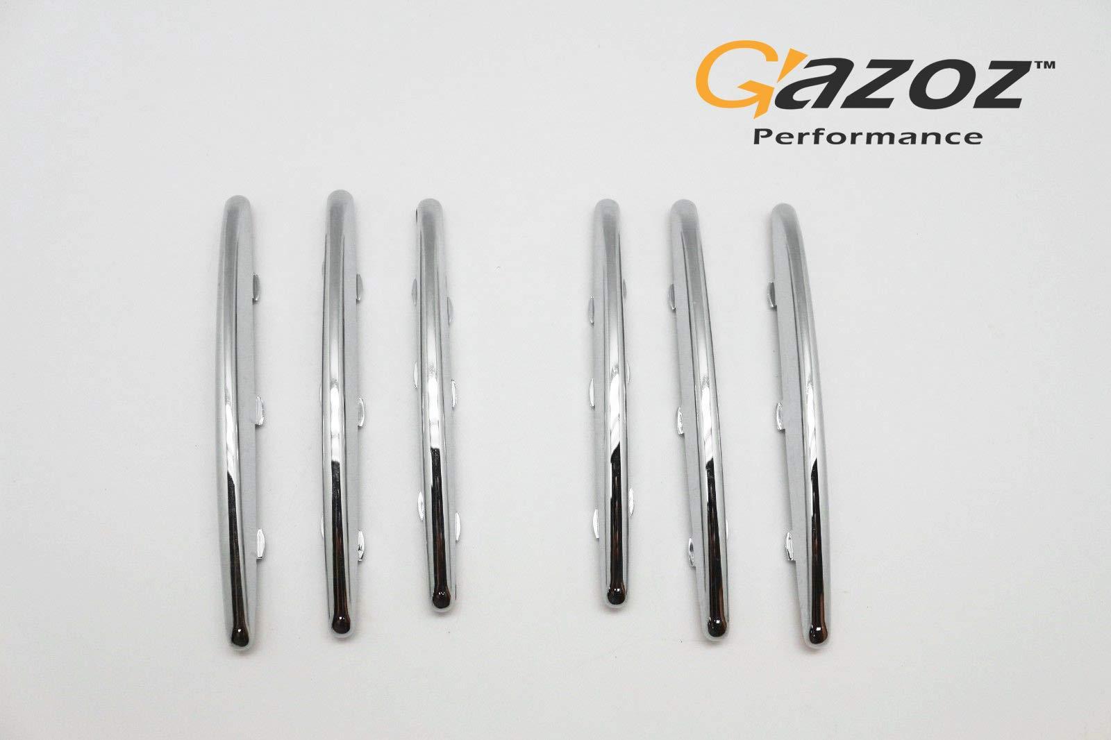 6 Chrome Hood Molding Grill Grille Vent Cover For 2004-2011 Mercedes Benz R171 SLK