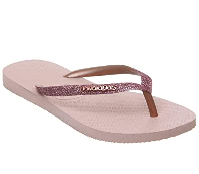 09a89dadd3f7 Havaianas Slim Glitter Flip Flops  Amazon.co.uk  Shoes   Bags