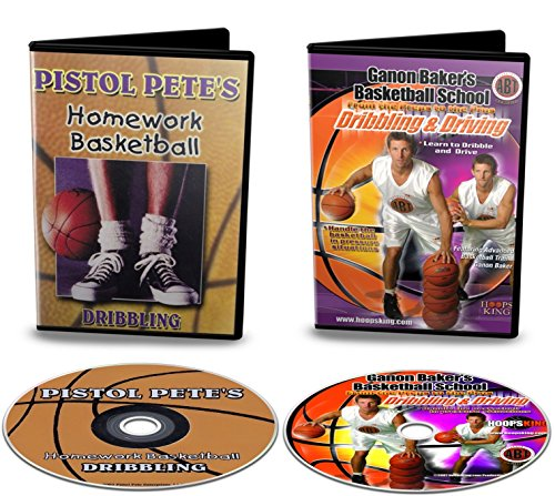 HoopsKing Basketball Dribbling DVD Pack - Old School & New School - Pete Maravich & Ganon Baker Dribbling ()
