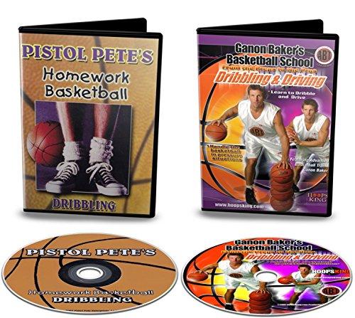 HoopsKing Basketball Dribbling DVD Pack - Old School & New School - Pete Maravich & Ganon Baker Dribbling Videos (Best Pistols Of All Time)