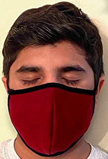 product image for Made in USA Fashion Protective Face Masks Unisex Washable Mask Hand Made (Burgundy)