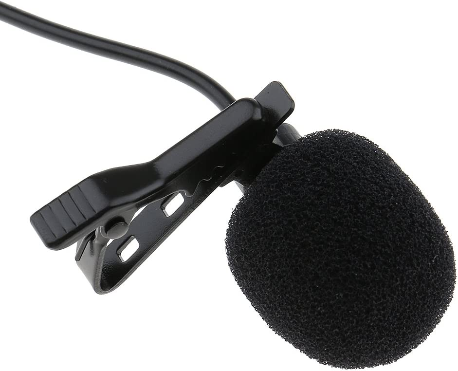3.5mm H HILABEE Microphone /à Tube Daspiration Lavalier /à Pince 1//8 XLR 3 Broches XLR 3Pin // 4Pin Noir