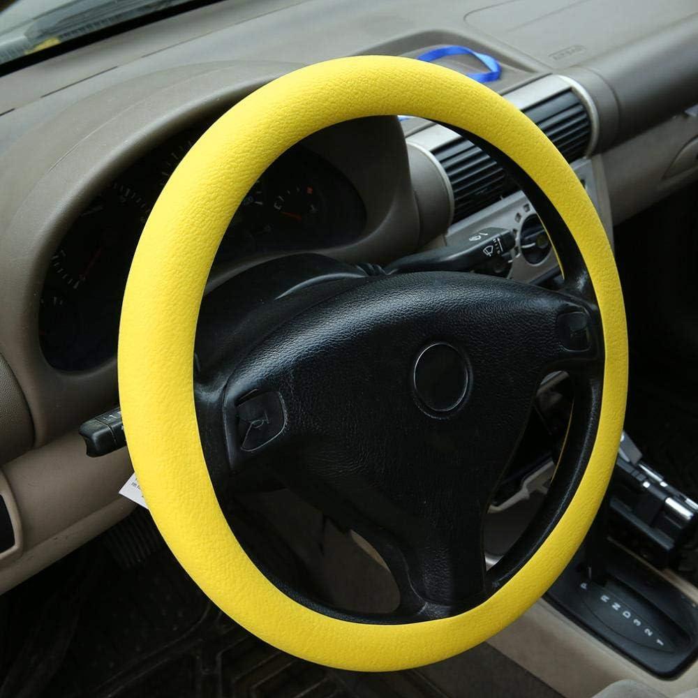 La decoraci/ón m/ás nueva de Fashional Nueva cubierta suave del volante del silic/ón Shell antideslizante inodoro protector respetuoso del medio ambiente para el coche caliente China amarillo