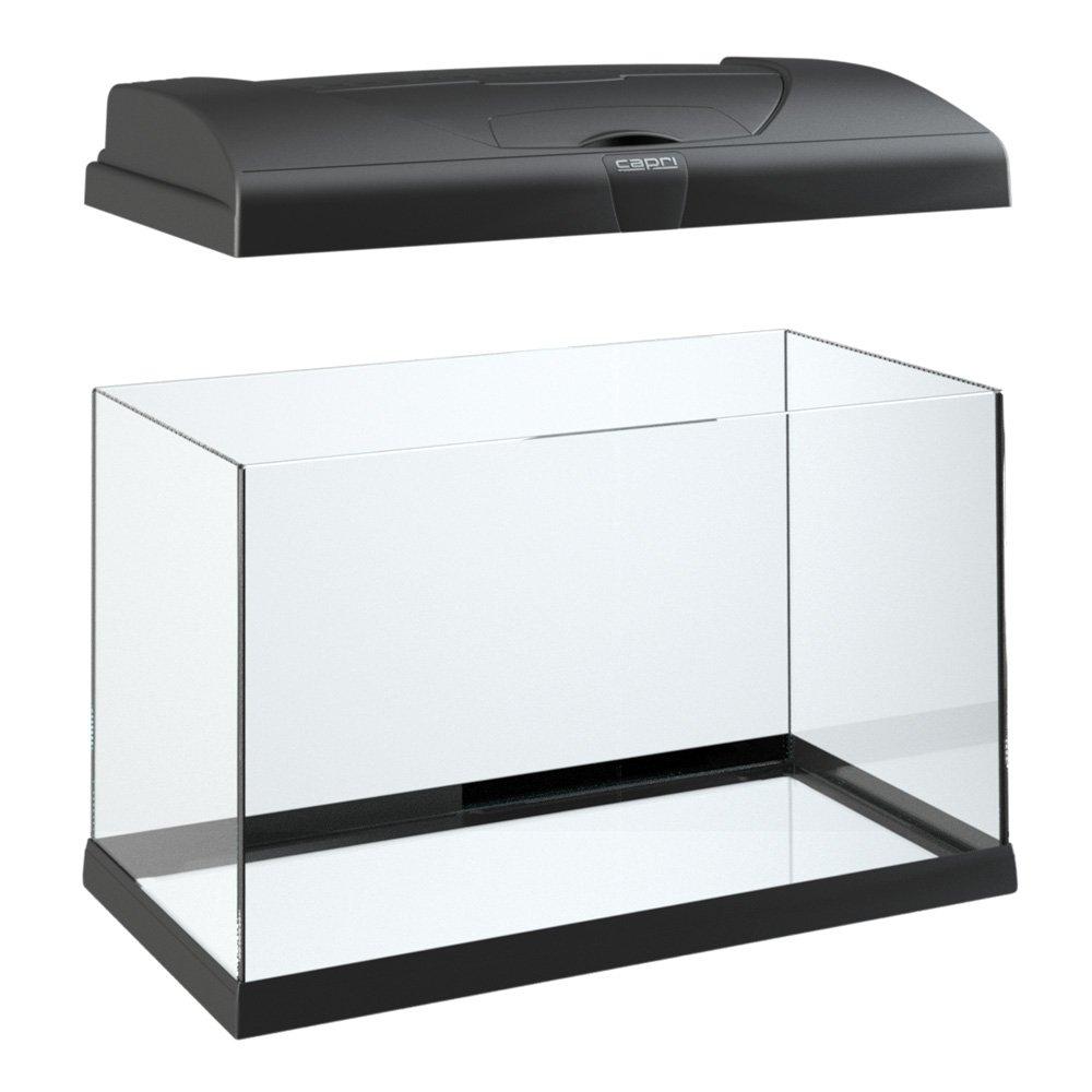 Ferplast 65018017 W1 Acuario Capri 80, medidas: 80 x 31.5 x 46.5 cm, 100 litros, color negro: Amazon.es: Productos para mascotas