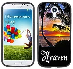 Heaven Hawaii Maui Sunset Handmade Samsung Galaxy S4 Black Bumper Hard Plastic Case
