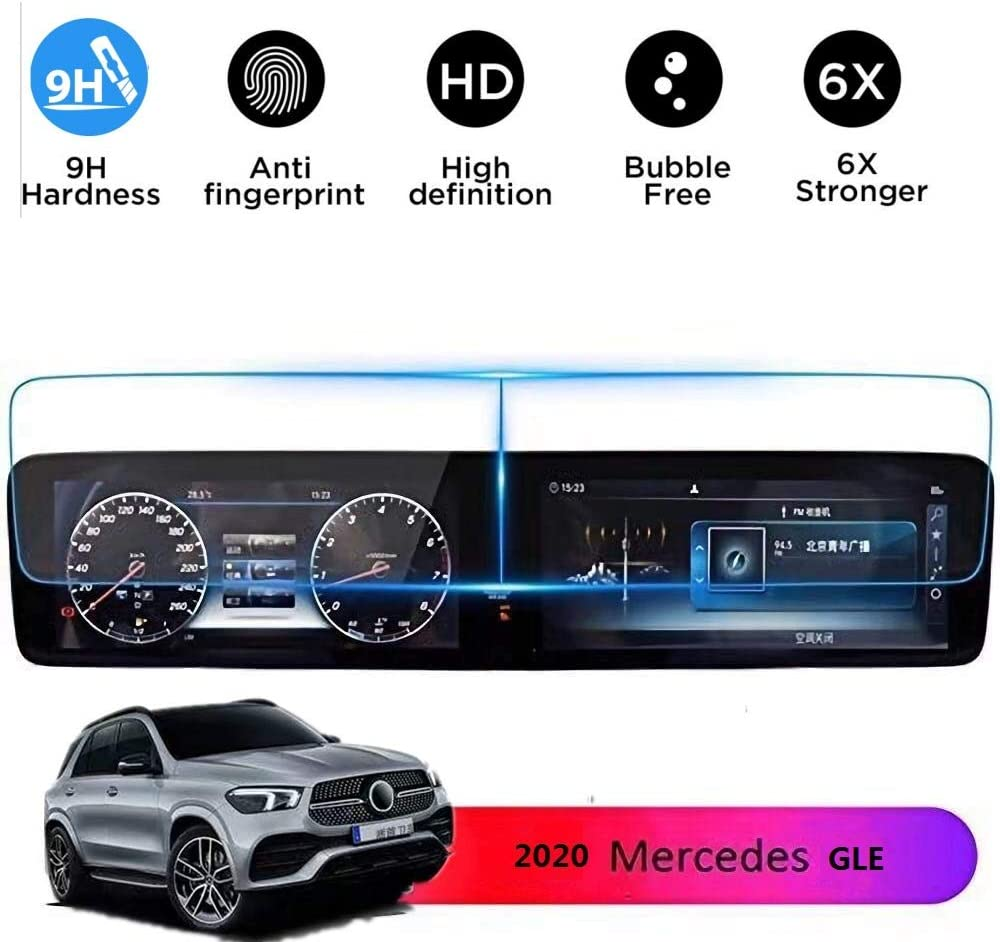 V167 Screen Protector Compatible with 2019 2020 Mercedes Benz GLE 12.3 inch Touch Screen,Flyingchan Anti Glare Scratch,Shock-Resistant Navigation Protection Accessories Premium Tempered Glass