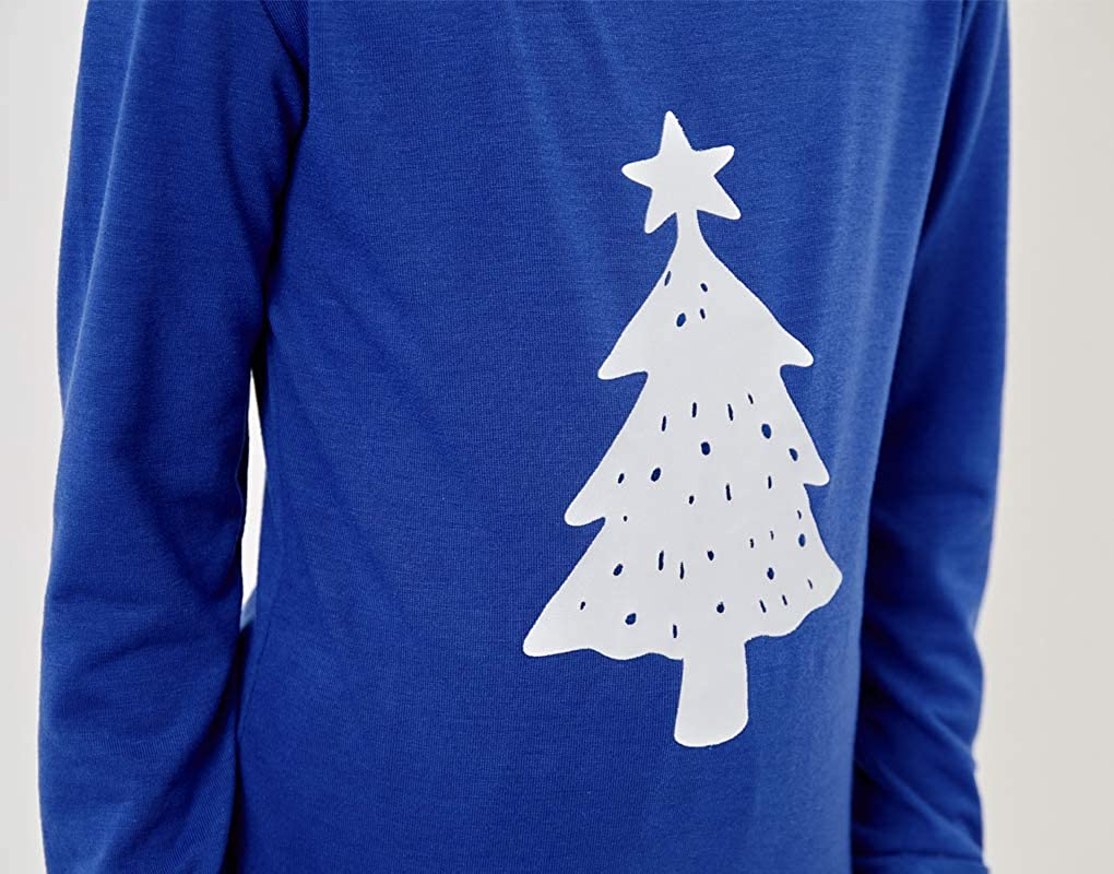 MyFav Matching Family Christmas Pajamas Set Soft Cotton Clothes Sleepwear