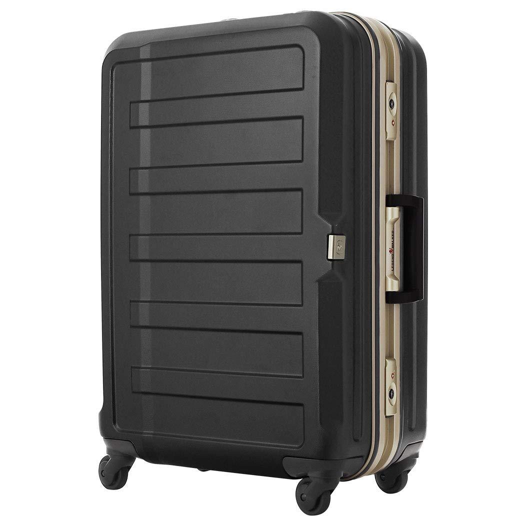 [アウトレット] スーツケース キャリーケース キャリーバッグ LEGEND WALKER レジェンドウォーカー M サイズ 傷が目立ちにくいシボ加工 日乃本 B-5088-60 ブラック   B07PPCJBC3