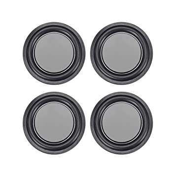 uxcell 4Pcs 2 Inches 52mm Bass Speaker Passive Radiator Auxiliary Rubber Vibration Plate Subwoofer DIY Repair