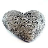 Heart Shaped Memory Stone for Mom