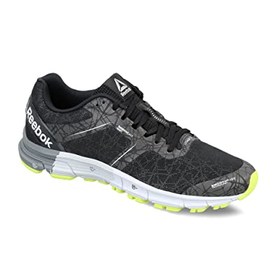 Reebok Men's Reebok One Cushion 3 Nite Black, Alloy, Grey, Yellow and White