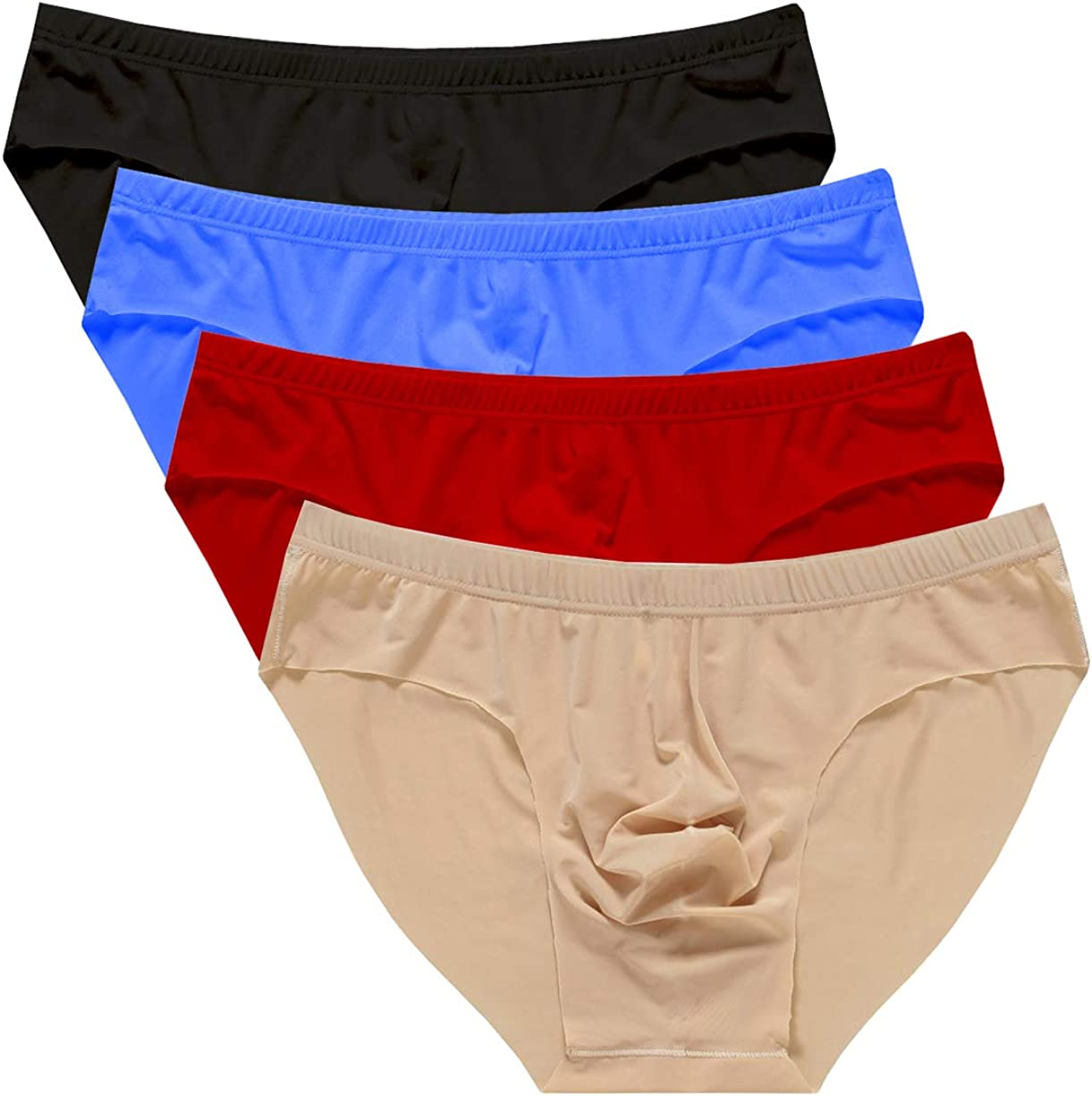 Yateen Mens Traceless Underwear Ice Silk Briefs