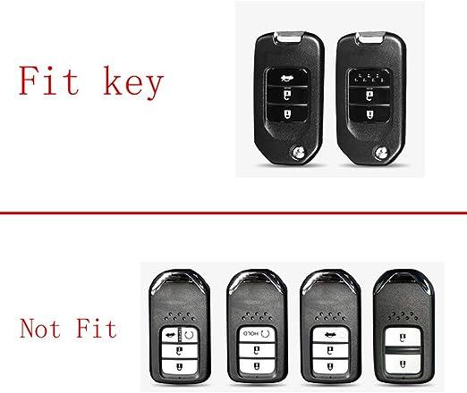 TM Royalfox Black 2 3 4 Buttons 3D Bling Smart keyless Entry Remote Key Fob case Cover for Honda Jade HR-V CR-V Accord Crider Vezel Civic Greiz Spirior Elysion Fit City Crosstour Keychain