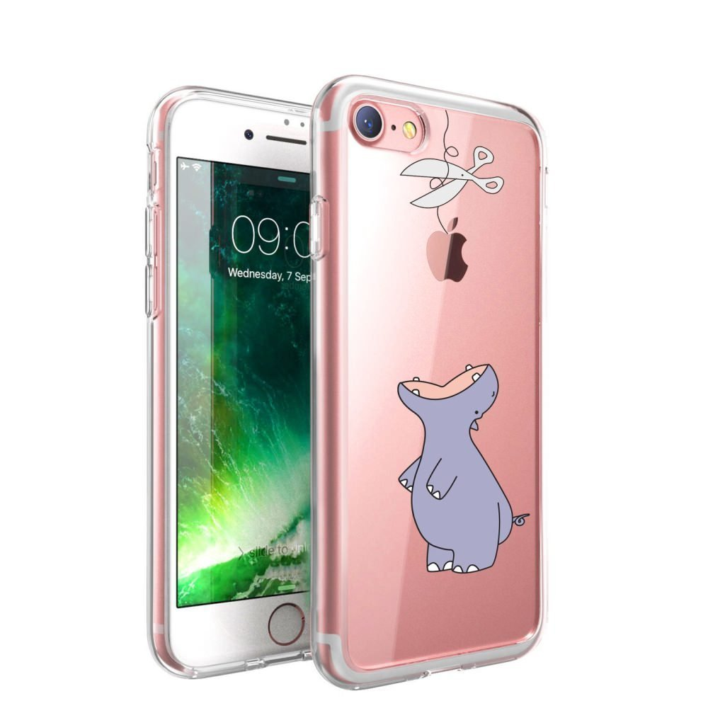 For Iphone 5s 5se Case Hippo Llzcoque Clear Soft Tpu Gel Tempered Glass Crystal Screen Guard 5 5c Silicone Protective Bumper Caseshock Absorption