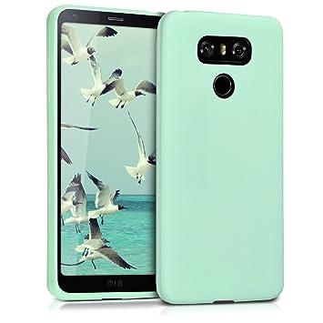 kwmobile Funda para LG G6 - Carcasa para móvil en TPU Silicona - Protector Trasero en Menta Mate