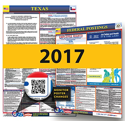 Osha Workplace Poster (2017 Texas State & Federal Labor Law Posters for Workplace)