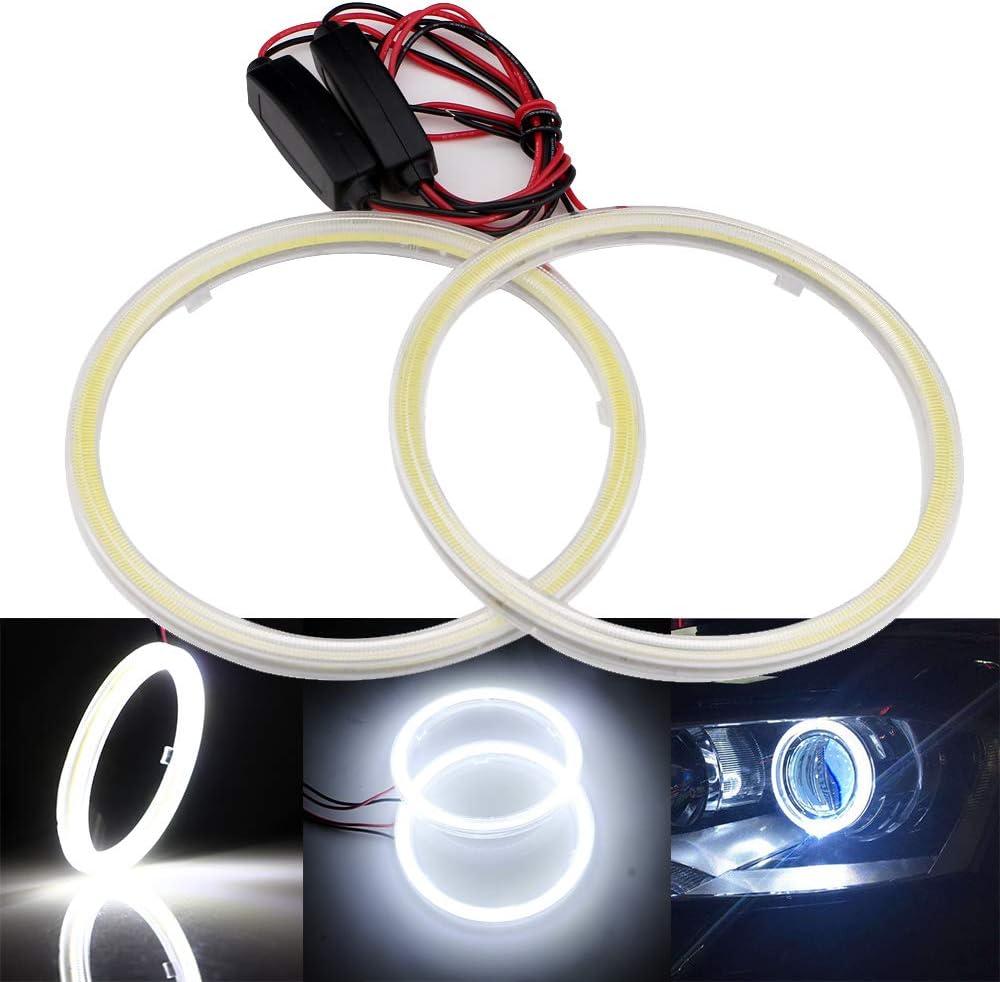 2pcs 70mm 3528 21 SMD car Led lamp Car Headlight Angel Eyes Halo Ring Light Red