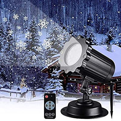 Snowfall LED Light Projector,Syslux Christmas Snow Light,Snowfall Projection Light with Snowstorm Effect for Christmas,Holiday,Halloween,Party,Garden,Wedding,Indoor Outdoor Decorations